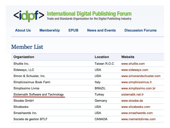 IDPF Member List - IDPF üye listesi